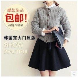 韓國東大門2016 半身百褶裙太空棉高腰短裙傘裙大碼打底蓬蓬裙