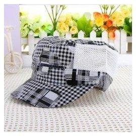 韓國 兒童帽子男童太陽帽女童遮陽帽潮寶寶夏天涼帽網帽防曬帽 灰色 1~2歲