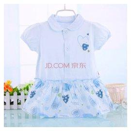 2015 女童連衣裙夏 嬰兒裙子兒童公主裙小0~1一歲23女寶寶夏裝 藍色 80