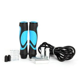 奧斯汀 包膠加重1.5磅4色 健身負重 競技防纏繞跳繩 3米 天空藍