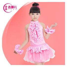 六一兒童表演服女童練功服舞蹈紗裙幼兒拉丁 舞裙少兒蓬蓬裙