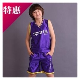 青少年 套裝 潮大童籃球服背心短褲兩件套薄 男童夏裝17
