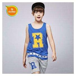 5男童夏裝 套裝6兒童 背心短褲子7男孩籃球衣足球服13~15歲