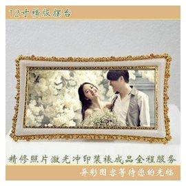 高檔 樹脂帶玻璃影樓婚紗照相框擺台畫框擺件洗照片