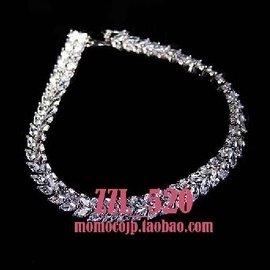 法國單新娘結婚禮服全鑽石水晶爆閃優雅手鏈婚紗配飾品復古奢華閃