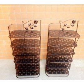 歐式鐵藝鞋架子 拖鞋架三六層小鞋櫃多 置物架