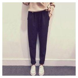 韓國2015夏秋透氣西裝料九分哈倫褲女寬松顯瘦 小腳褲長褲K388