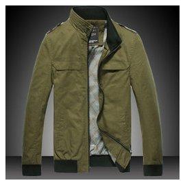 男士夾克男 修身夾克衫立領 牛仔外套男薄款潮 w瓊斯