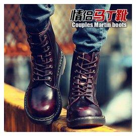 意威曼英倫男靴馬丁靴 男女真皮靴子短靴男增高鞋雪地鞋情侶靴子