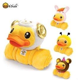 香港潮牌b.duck小黃鴨公仔玩偶毛絨玩具空調毯抱枕毯子兩用bduck