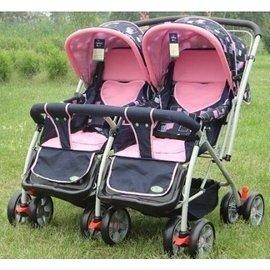 雙胞胎推車童車嬰兒雙人手推車可折疊可平躺可換向嬰兒車 雙胞胎手推車 送朋友