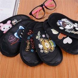 愛度午睡遮光睡眠眼罩黑色布藝卡通眼罩 睡覺眼罩遮光透氣安神緩減 學生