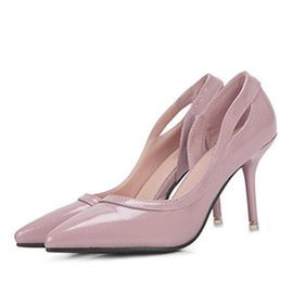 2015 明星大牌同款 女夏涼鞋 漆皮女高跟鞋優雅女鞋簡約 單鞋 粉紅色 39