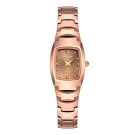 歐頓手表 女士 鎢鋼石英表桶型手鏈復古正品女士手表~25 桶鎢玫瑰金