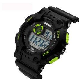 時刻美夜光 潮流電子表 男士多 手表 防水男表1011 綠色
