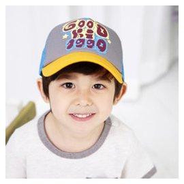 乖孩子韓國兒童帽子女春夏鴨舌帽寶寶帽子男童棒球帽太陽帽4~8歲 黃色
