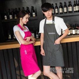 圍裙廚房防水防油廚房工作服咖啡店圍腰