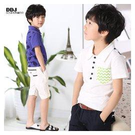 男童短袖polo衫多多家 2015夏裝 潮兒童印花t恤衫315YD