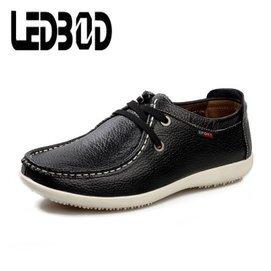 雷迪博德春夏新品 男鞋日常 鞋真皮商務男士 皮鞋單鞋英倫潮透氣鞋子男5802~68 黑色