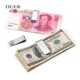 杜爾 夾零錢鈔票夾 金屬男士錢包錢夾女式大鈔夾票據小夾子發票夾