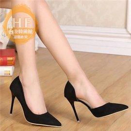 高跟鞋 春款尖頭高跟鞋細跟中跟性感工作鞋女單鞋
