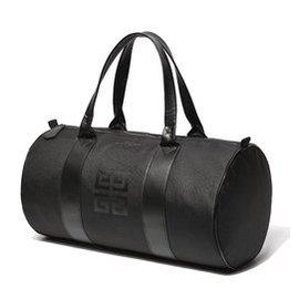 ^~ 大容量純色手提行李包旅行袋女雙杠圓筒 健身包