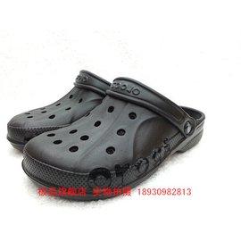 涼鞋 黑色大碼男鞋洞洞鞋 貝雅包頭拖鞋情侶沙灘鞋花