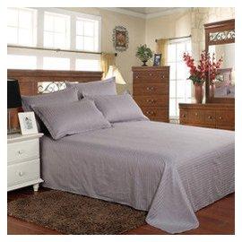 彗星家紡 全棉貢緞單色床單 純棉床上用品緞條純色單件紫色天藍綠色純白色1.8米床學生宿舍