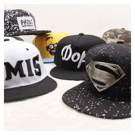 夏天 潮流男女街頭嘻哈帽鴨舌帽平沿帽 超人EXO鹿 同款棒球帽