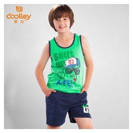 2015  潮男童套裝純棉兒童中大童兩件套籃球足球服