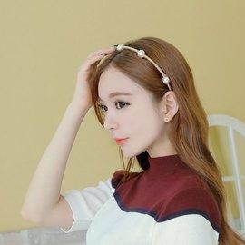 首爾小姐︱韓國 ~ ~ . 焦點大珍珠點綴纏繞毛線髮箍