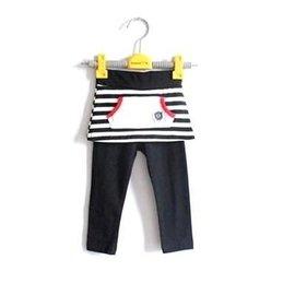 新春款 小女 寶寶 嬰兒裝 條紋裙褲 打底褲 小腳褲 褲裙 韓 特