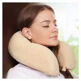 睡眠易 型枕 出差旅行飛機汽車保健護頸枕 枕套可洗記憶棉枕頭 舒適保健版