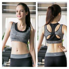 包郵雙層 內衣防震固定跑步假兩件減震 訓練文胸女夏無胸墊