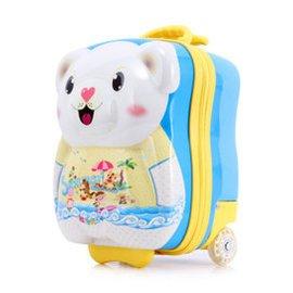 一路箱隨卡通兒童拉杆箱旅行箱包萬向輪15寸小熊小孩幼兒園行李箱學生可愛寶寶登機箱小拖箱男女