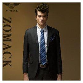 純色職業 西服男版 修身大碼西裝套裝 新郎結婚禮服兩件套