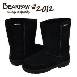 2016美國正品bearpaw熊掌雪地靴604女中靴短靴長靴子 保暖靴中高筒長靴學生鞋真皮