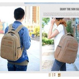 雙肩包男帆布背包電腦包 高中學生書包女雙肩背包復古旅行包