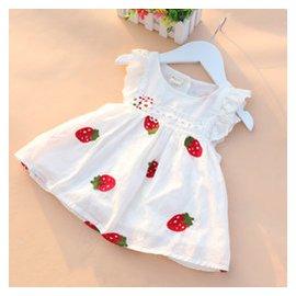 嬰兒童連衣裙子女童夏裝 寶寶純棉百褶裙 公主裙碎花裙背心裙