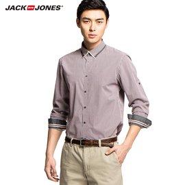 JackJones傑克瓊斯2016 純棉商務格紋長袖男士襯衫213105033