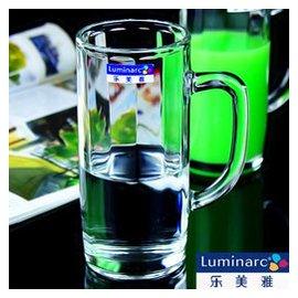 新品 弓箭樂美雅玻璃杯 帶把啤酒杯 茶杯 透明水杯 果汁杯 杯子