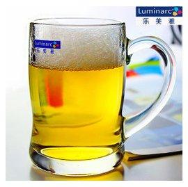 樂美雅 玻璃杯 啤酒杯 茶杯 水杯 耐熱帶把杯 扎啤杯 杯子
