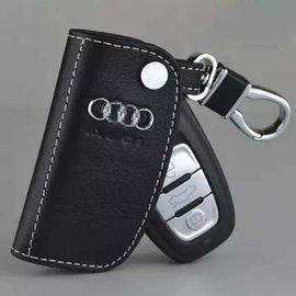 audi奧迪鑰匙包智能遙控汽車鑰匙真皮套新A4LA6L A5 A7 A8 Q5 S6 S8