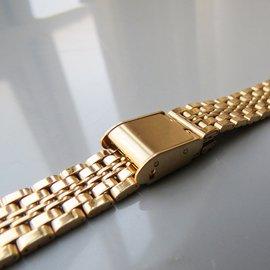 304高品质纯不锈钢表带 121314mm女款金色钢色表链手表配件