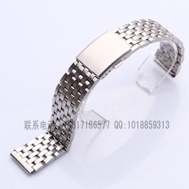 特价不锈钢表带 包片钢带 精钢手表带全钢表带182022mm手表配件