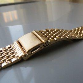 304纯不锈钢表带 15161718mm钢色金色男女款表链钢带手表配件