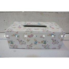 ^~~歐室 傢飾館~^~ peter rabbit 彼得兔 玫瑰風格 皮革 面紙盒~長方型