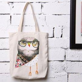 定制 DUNA 復古民族風帆布包折疊環保袋 袋印花單肩包 女包