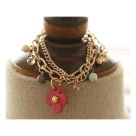 韓國 正品手環女飾品亞克力花朵手環手鐲手鏈