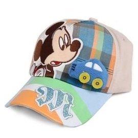 迪士尼棒球帽春夏正品迪士尼米奇米妮男女童帽子幼兒童棒球帽 帽子0359卡其 54